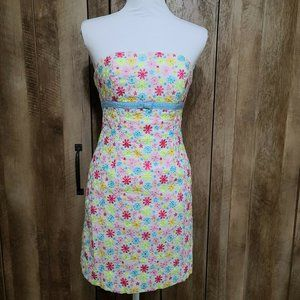 Lilly Pulitzer Strapless Mini Floral Spring Dress